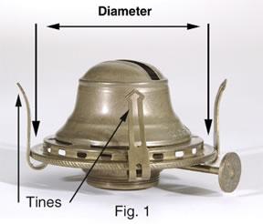 Choosing the correct size for kerosene lamp chimney replacement