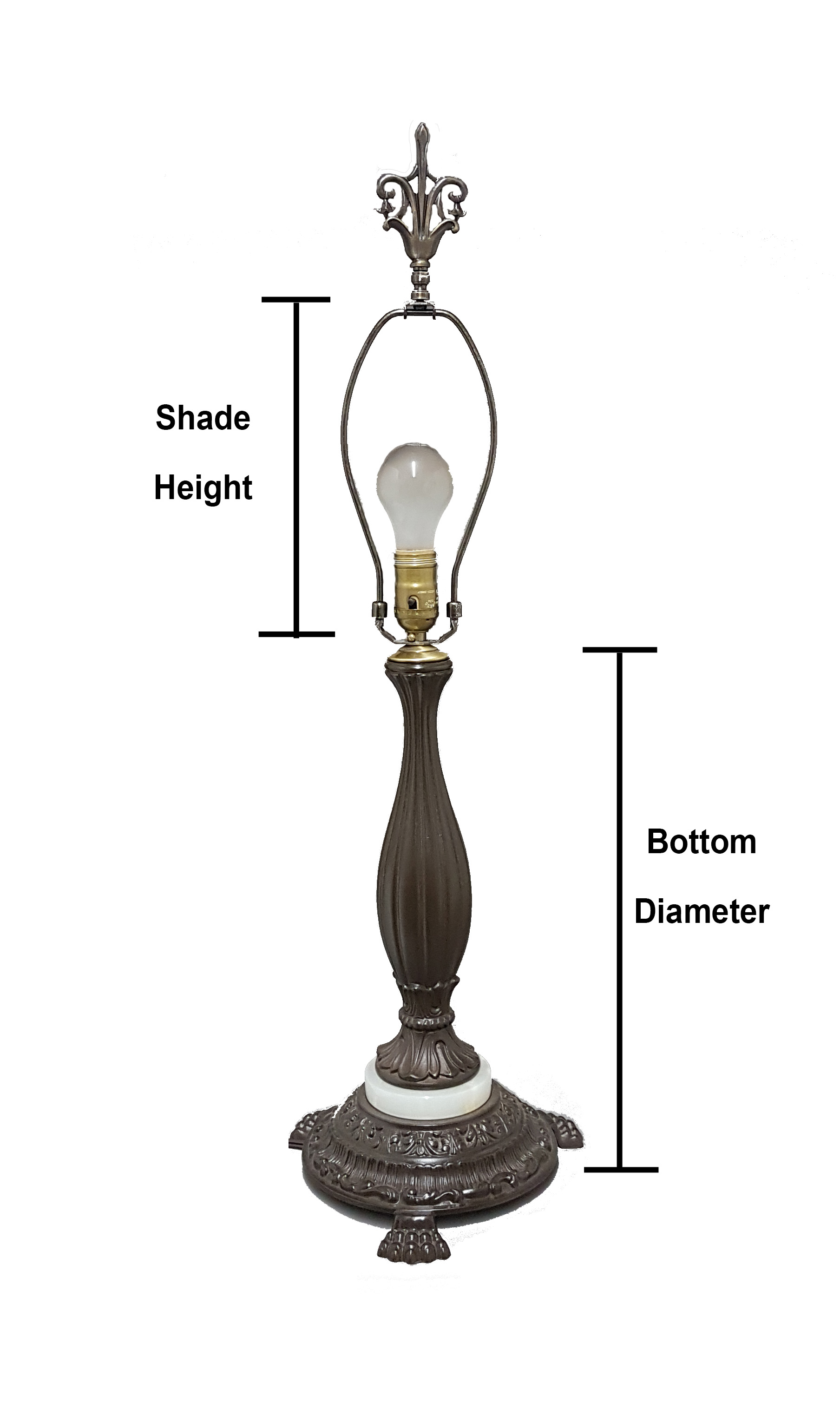 How to measure lamp shade Replacement Measureing Table Lamp Height Bp Lamp Supply Simple Steps For Selecting The Correct Fabric Shade