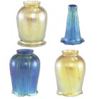 Art Glass and Aurene (Iridescent) Lamp Shades
