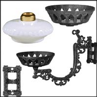 Bracket Lamp Parts for Iron and Wall Bracket Lamps