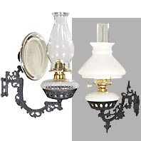 Wall Brackets For Hanging Lamps : Hanging Oil Lamps & Hall Lanterns B&P Lamp Supply