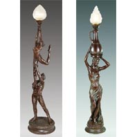 Deco Style Torchiere Lamps