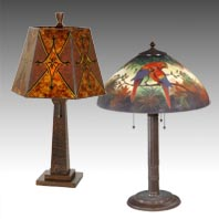 Early Electric Arts and Crafts Table Lamps