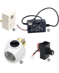 Electronic Switches, Dimmers, Motion Detectors, and Dusk to Dawn Sensors
