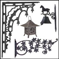 Cast Iron Shelf Brackets, Hooks, Bells, and Hangers