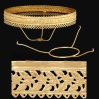 Shade Holders Banding And Crowns For Kerosene Style Lighting