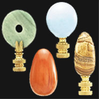 Porcelain, Ceramic, Wood, & Stone Lamp Finials