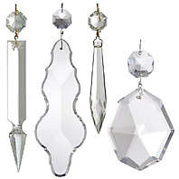 Crystal Chandelier Parts Prisms BP Lamp Supply - Replacement chandelier glass crystals