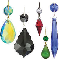 Crystal chandelier parts prisms bp lamp supply traditional colored lamp crystals and lamp pendalogues aloadofball Image collections