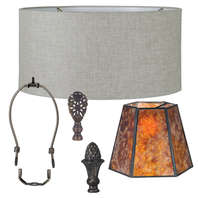 Fabric Lamp Shades, HARPS, FINIALS