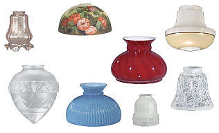 Replacement Glass Lamp Globes and Antique Style Glass Lamp Shades