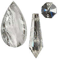 Rock Crystal Pendalogues & Prisms