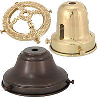 Lamp parts bp lamp supply brass and nickel lamp shade holders aloadofball Image collections