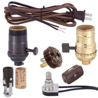 Lamp SOCKETS, Cord, Lamp Switches, Plugs