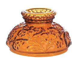 "4"" Miniature Amber Glass Shade"