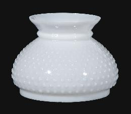 "7"" Opal Glass Hobnail Shade - Plain Top"