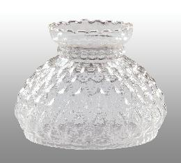 "7"" Diamond Quilted Clear Glass Shade"