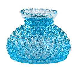 "7"" Diamond Quilted Light Blue Glass Shade"