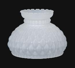 "7"" Diamond Quilted Satin Crystal Shade"