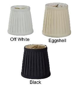 Pleated Mini Deep Drum Shade- Tissue Shantung