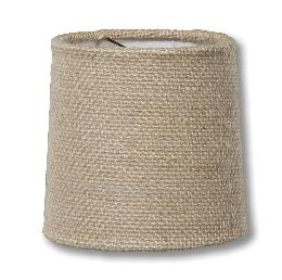 Almond Burlap Chandelier Shade Mini Retro Drum Hardback
