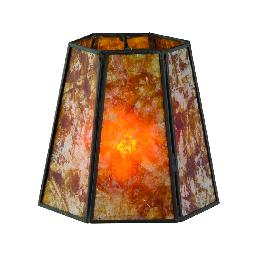 Amber Mica Panel Mini Hexagon Shade