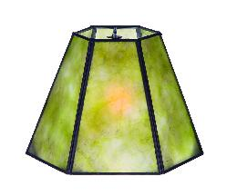 Green Mica Panel Small Hexagon Shade