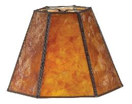 Amber Mica Panel Small Hexagon Shade