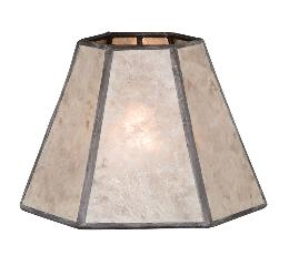 Natural Mica Hexagon Chandelier Shade