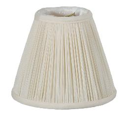Eggshell Shantung Silk Pencil Pleat Empire Mini Shade