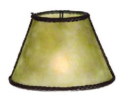 Green Mica Chandelier Shade Mini Empire