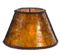 Amber Mica Chandelier Shade Mini Empire