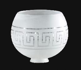 "2 1/2""  Gasolier Shade, Hand Cut Greek Key Design"