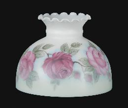 "10"" Hand Painted Antique Roses Lamp Shade"