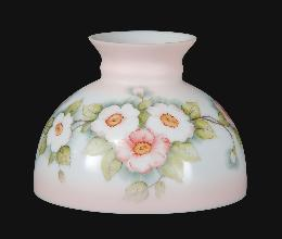 "10"" Opal Glass Student Shade, Apple Blossoms Scene"