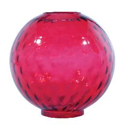 "10"" Cranberry Dot Optic Ball Shade"