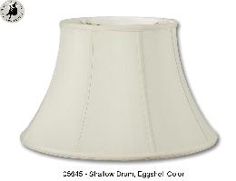 Eggshell Color, Shallow Drum Lamp Shades