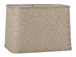 Driftwood Burlap Round Corner Rectangle Lampshade
