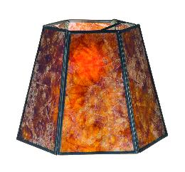 Antique Amber Mica Hexagon Lamp Shades