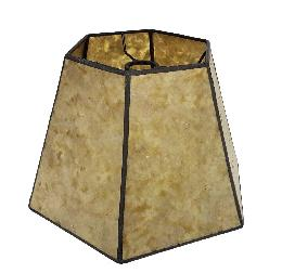 Golden Hexagon Style Mica Lampshade