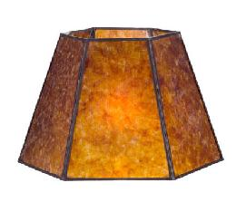 Antique Amber Hexagon Style Mica Lampshade