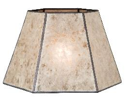 Parchment Color Hexagon Style Mica Lampshade