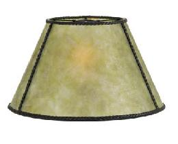 Green Empire Style Mica Lamp Shade