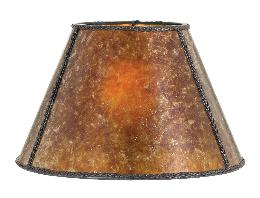 Amber Empire Style Mica Lamp Shade