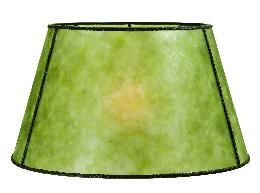 Green Mica Empire Style Floor Lamp Shade