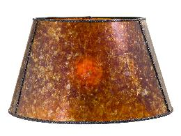 Amber Mica Empire Style Floor Lamp Shade