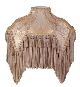 Beige Bridge UNO Victorian Fringed Lamp Shades