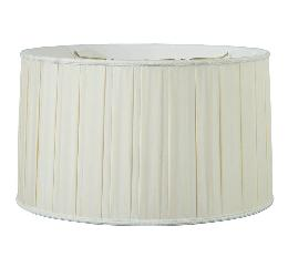Pleated Drum with Old English Braid-100% Pure Silk
