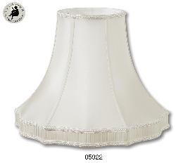 Eggshell Color, Pleated Gallery Bell Lamp Shades - 100% Pure Silk