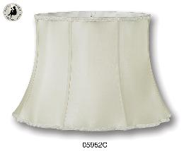 Eggshell Out Scallop Bell Top & Bottom with Old English Braid-100% Silk